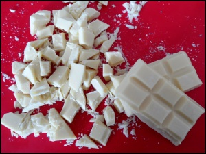 White choc raspberry muffins